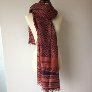 Accessories - NWOT Tribal Pattern Pink and Purple Scarf
